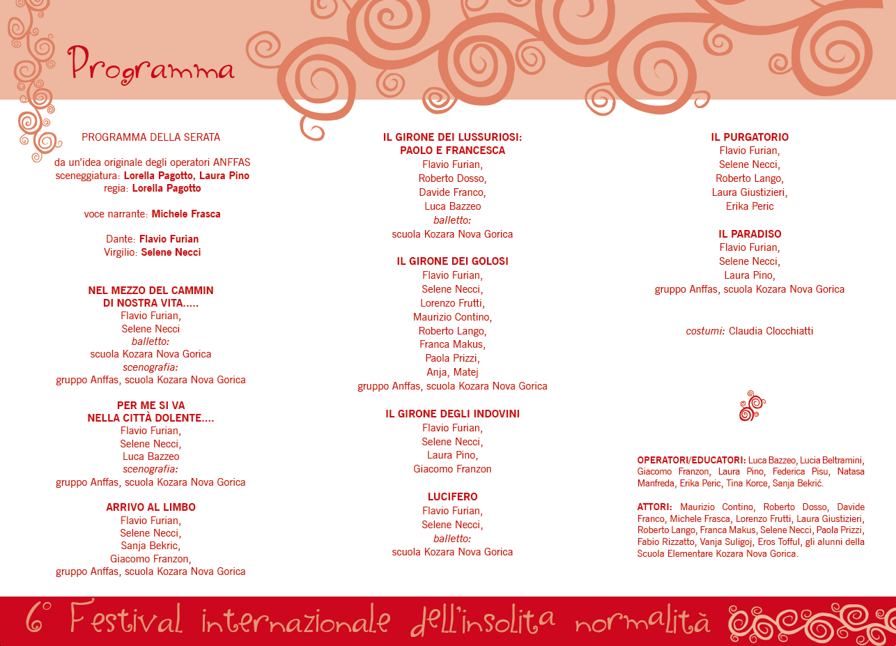 6° Festival Internazionale dell'Insolita Normalità - Memorial Federico Paulin