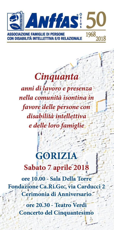 50° Anniversario della fondazione dell'ANFFAS di Gorizia