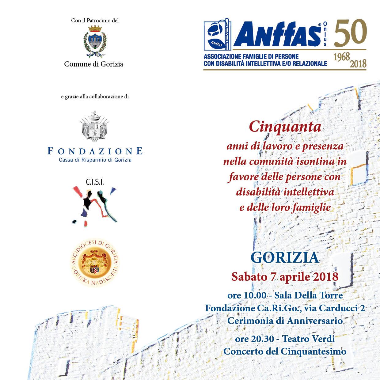 50esimo anniversario ANFFAS Onlus Gorizia
