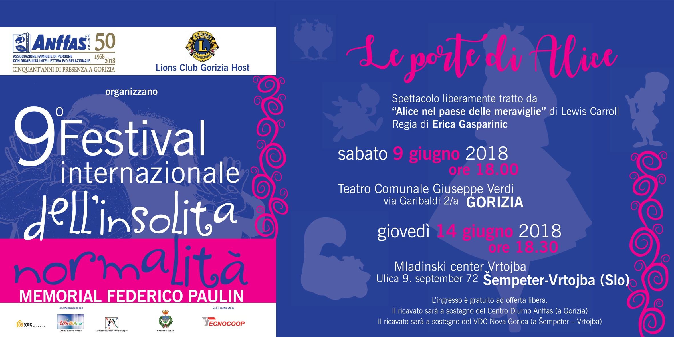 9° Festival Internazionale dell'Insolita Normalità - Memorial Federico Paulin