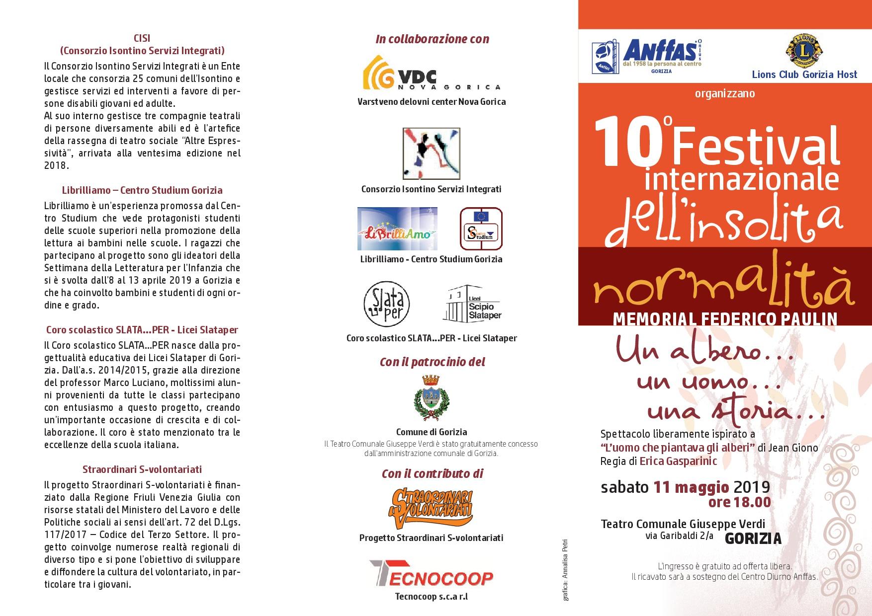 10° Festival Internazionale dell'Insolita Normalità - Memorial Federico Paulin